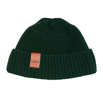 bekleidung, sale, mutzen, accessoires-sale, accessoires-bekleidung, KURZE MÜTZE FLASCHENGRÜN - hat short thick knitted cotton green509D 5906742648997