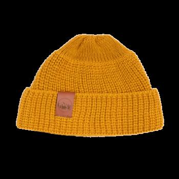 sale-en, bekleidung-en, beanies, accessories-sale, clothes-accessories, SHORT BEANIE MUSTARD YELLOW - hat short thick knitted cotton mustard2012km 5906742648645 350x350