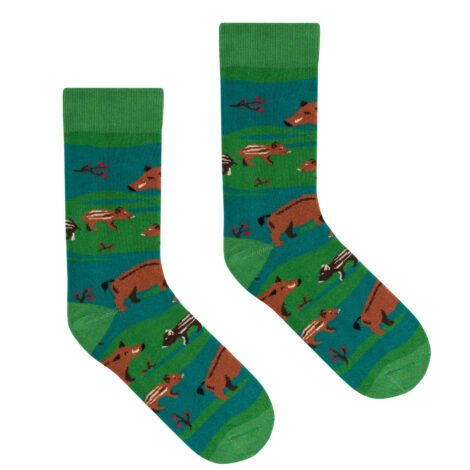 bekleidung-en, socks, clothes-accessories, SOCKS WILD BOARS - socks patterned boar 36 41 kabak 5903678204075 470x470