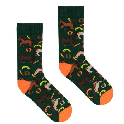 bekleidung, socken, accessoires-bekleidung, SOCKEN PFERDE - socks patterned horses 36 41 kabak 5903678204051 470x470