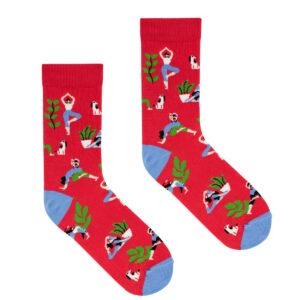 , socks_patterned_yoga_red_36-41_kabak_5903678204280 - socks patterned yoga red 36 41 kabak 5903678204280 300x300