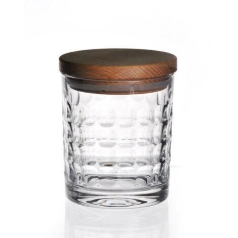 wohnen, glas, BEHÄLTER AUS KRISTALLGLAS 01 - pojemnik krysztalowy must have z drewnianym deklem 11841 470x470