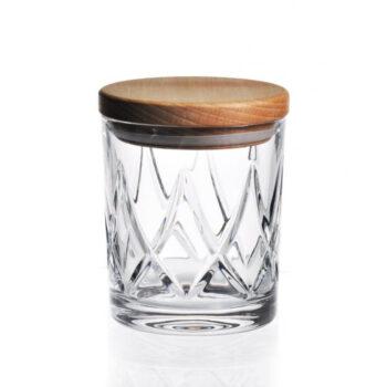 interior-design, glass, CRYSTAL CONTAINER WITH WOODEN LID 02 - pojemnik krysztalowy must have z drewnianym deklem 11846 350x350