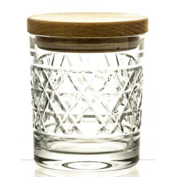 interior-design, glass, CRYSTAL CONTAINER WITH WOODEN LID 03 - pojemnik krysztalowy z drewnianym deklem 11843 Kopie 350x350