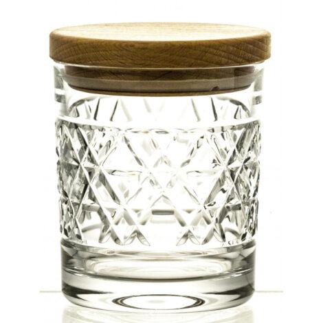 interior-design, glass, CRYSTAL CONTAINER WITH WOODEN LID 03 - pojemnik krysztalowy z drewnianym deklem 11843 Kopie 470x470