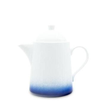 porcelain_and_ceramics, others, interior-design, SUGAR BOWL COBALT BLUE - czajnik 1200ml kobalt reliefowe paski 350x350