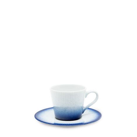 cups, porcelain_and_ceramics, interior-design, SMALL CUP WITH SAUCER COBALT BLUE - filizanka 100ml espresso kobalt reliefowe paski 470x470