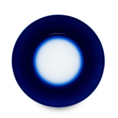 , KLEINER TELLER KOBALTBLAU - talerz 23cm deserowy kobalt reliefowe paski 470x470