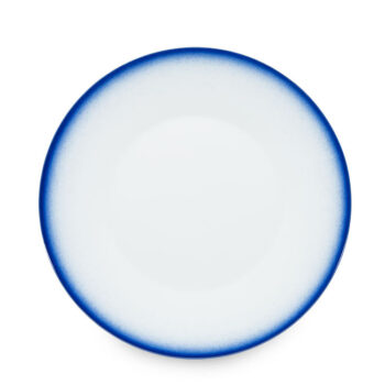 porcelain_and_ceramics, plates, interior-design, LARGE PLATE COBALT BLUE - talerz 27cm obiadowy kobalt reliefowe paski 350x350