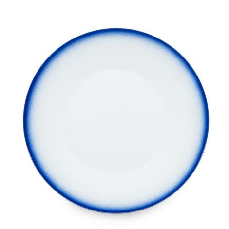 , GROßER TELLER KOBALTBLAU - talerz 27cm obiadowy kobalt reliefowe paski 470x470