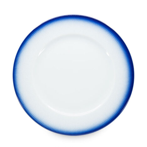 porcelain_and_ceramics, interior-design, SERVING PLATE COBALT BLUE - talerz 32cm duzy kobalt reliefowe paski 470x470