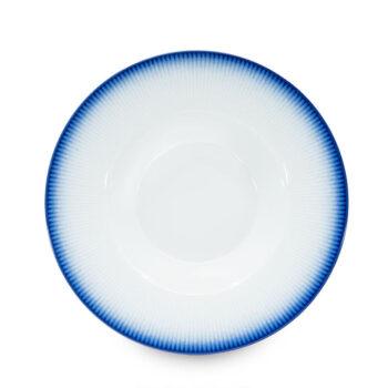 porcelain_and_ceramics, plates, interior-design, SOUP PLATE COBALT BLUE - talerz gleboki 23cm kobalt reliefowe paski 350x350